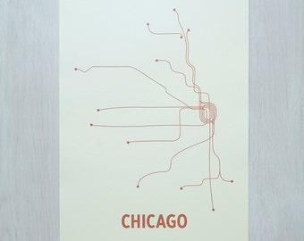 Chicago Screen Print - Mint/Rust