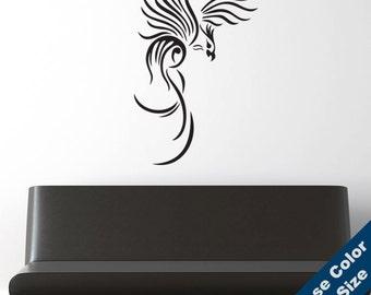Tribal Phoenix Wall Decal - Vinyl Sticker - Free Shipping