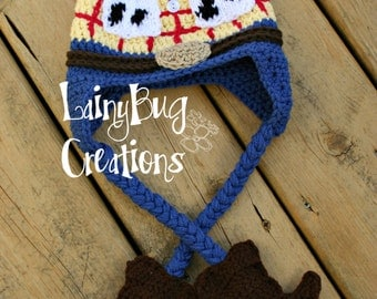 Cowboy Woody crochet hat