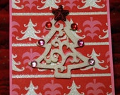 Sparkly Tree Christmas Card  20130206
