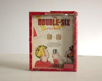 vintage original double six puzzle game