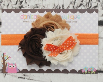 Thanksgiving inspired headband, fall headband, cute baby bow, thanksgiving bow, infant thanksgiving