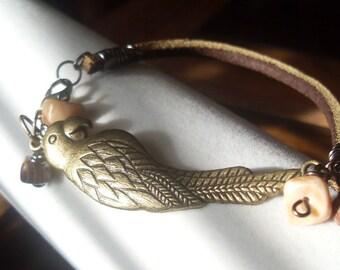 Parrot Paradise Leather Bracelet