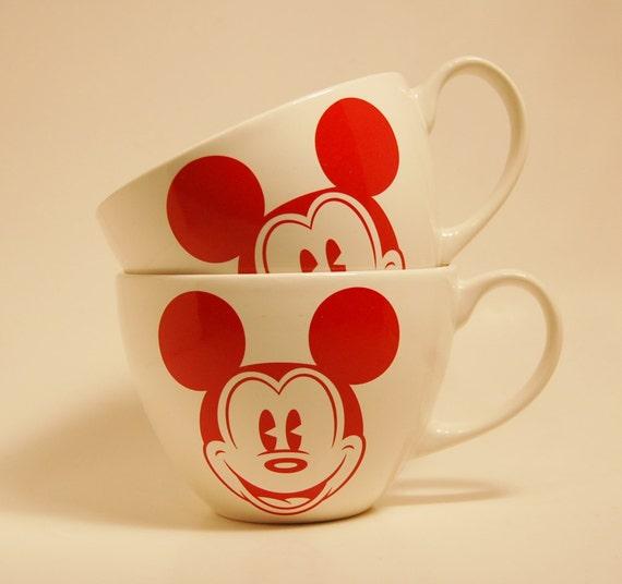 Mickey mouse coffee mugs porcelain disney copyright dishwasher