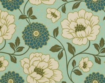 """Bungalow - Forest Dahlia - Cotton Sateen Fabric - 54/55"""" by Joel Dewberry from Free Spirit"""