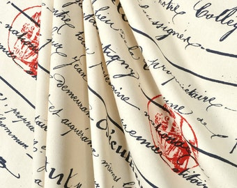 red and navy shower curtain. Shower Curtain French Penmanship Size 72x72 Navy Script Red Stamp  shower curtain Etsy