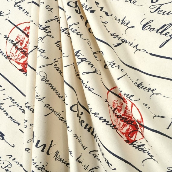 Items Similar To Shower Curtain French Penmanship Size