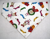 Dog Collar Bandana Scarf, Christmas Cindy Lou, LARGE