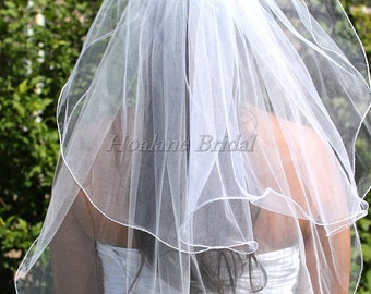 Two layer Veils, Bridal Veils, First Communion veils,  Short length veils