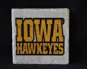 Iowa Hawkeye Coasters Set of 4 Handcrafted