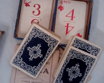 Antique Card Game , Animal Graphics , rummy or Newport and plaza
