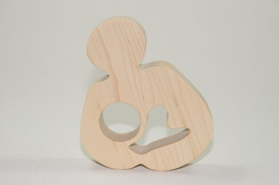 Breastfeeding Wooden Teether Natural Wood Baby Toy