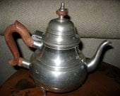 Kirk Stieff Williamsburg Pewter Coffee Pot with Wood Handle