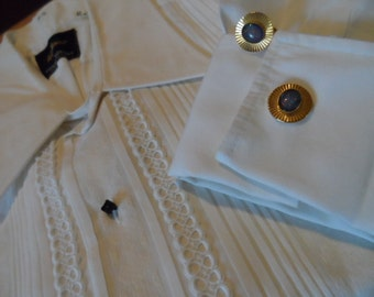 Dress Shirt, Wedding Singer, James Bond, white cotton K.