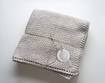 Crochet baby blanket in cotton&bamboo yarn