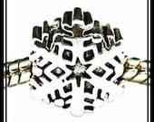 CHRISTMAS - Stamped 925 - Beautiful SNoWFLAKE - Excellent Quality - Threaded Screw Core Charm Bead - fit EUROPEAN Bracelets - M-XMAS-2925