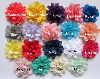 "50 Satin silky 2"" Flower-U Pick D007"