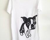 Boston Terrier White Tshirt