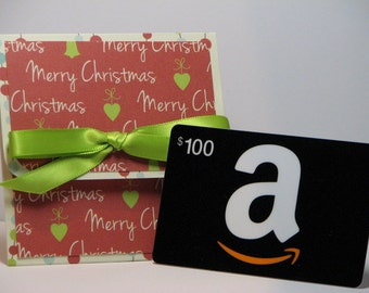 Greetings and Garland Christmas Gift Card Holder
