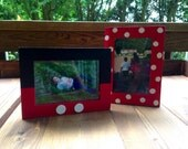 Set of Mickey and Minnie inspired picture frames