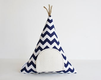 Chevron Teepee Tooth Fairy Pillow,You Choose Color Kids Toy Pillow, Boys, Girls, Children, Toy,  Stuffed Toy, Keepsake, Tipi