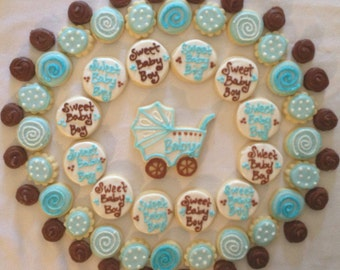 Sweet Baby Boy Baby Shower Cookie Tray