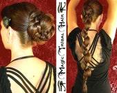 BRAID ELVEN PLAIT Custom Color Chignon updo 20''/ 50 cm Fantasy Wedding hair piece Medieval Renaissance extension Bride hair fall Gothic wig