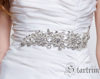 MARIAINA wedding bridal crystal sash , belt