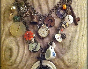 The Family Jewels Charm Necklace, Charm Necklace, Gypsy Charm,  Free USA Shipping