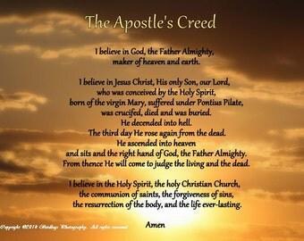 Apostles creed | Etsy