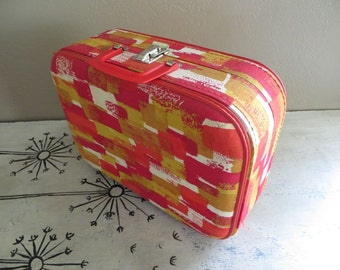 Childs Suitcase Childs Case Small Suitcase Doll Case Vintage Luggage Small Luggage Mini Luggage Red Luggage Storage Case