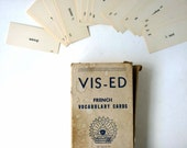 Vocabulary cards in French,  Vis-ed flashcards, box of 900 plus