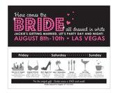 15 invitation sets Vegas Bachelorette Party Invitations, Girls Night Out Party, Lingerie Party, DIY, Skyline, Bridal Shower, Lingerie Shower