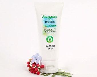 Organic, Vegan Dry Skin Face Cream