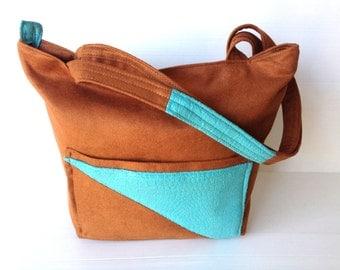 vegan purse outside pockets over the shoulder bag by ...