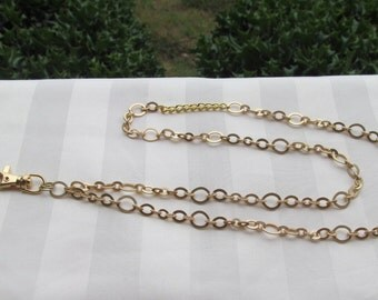 Gold Chain ID Badge Lanyard Necklace Matte Gold Chain Lanyard