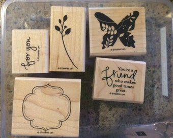 Great Friend - Retired - Stampin Up Stamp Set