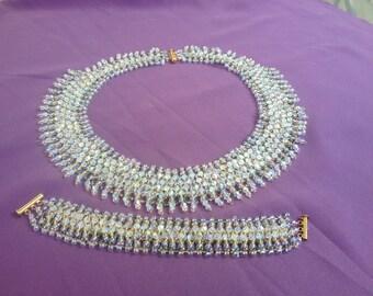 Swarovski Crystal Collar Necklace and Bracelet