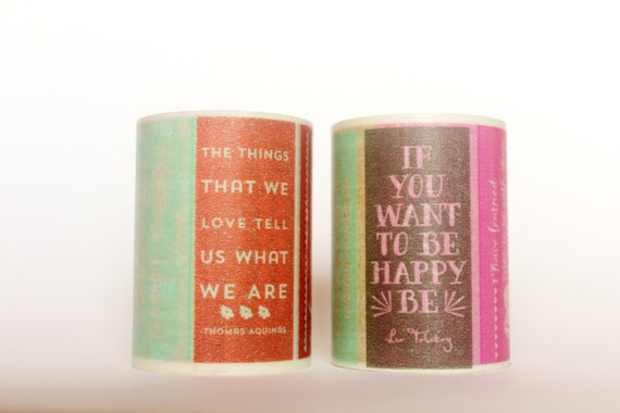 Rainbow Posters with Quotes Washi Tape