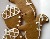 Gingerbread Squirrel and Acorn Cookies