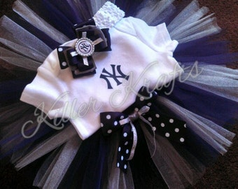 New York Yankees inspired tutu outfit