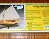 Vintage Wooden Ship Model Kit MUSCONGUS Bay Lobster Smack Sealed Midwest Products, USA