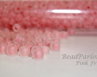 Pink Frost Glass Seed Beads - BP-F204 - Size 8/0  - 28 grams