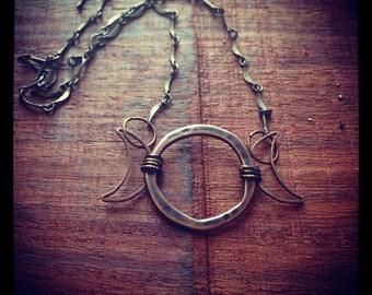 Triple Moon Necklace