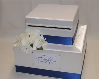 Elegant Custom made Wedding Card Box-Hydrangeas-any colors