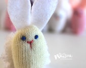THUMBKIN Cream or White BUNNY from repurposed gloves