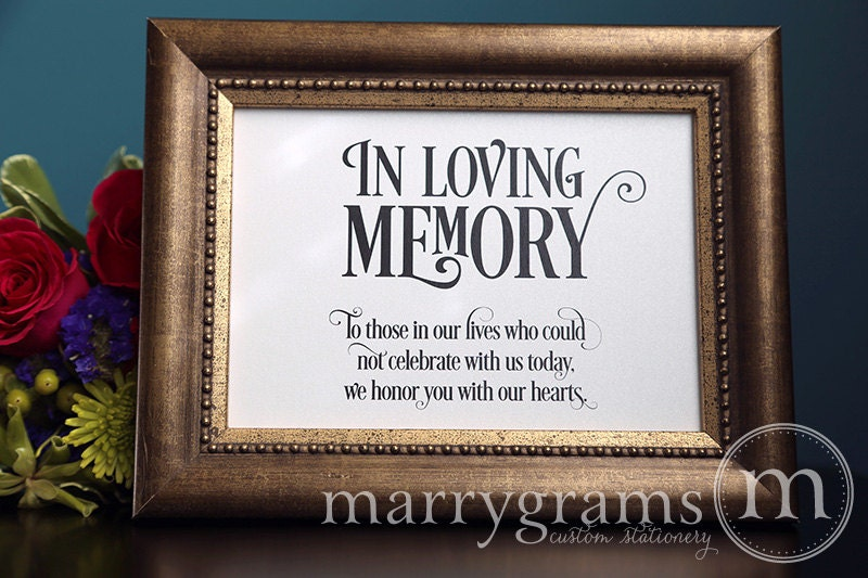 Memory Table Ideas in loving memory of those who are forever present in our hearts Wedding Memorial Ideas Idea For Memorial At Wedding Reception Beautiful Bouquet By Something Blue In Loving