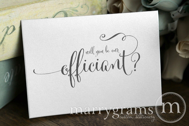 wedding card to ask officiant will you be our officiant card
