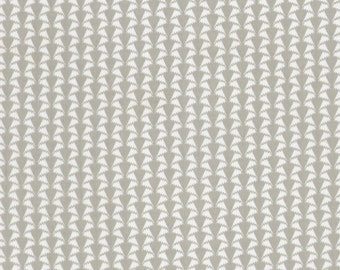 Liberty of London fat eighth Jonathan D monochrome grey and white print, cotton tana lawn