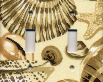 Seashells Double Light Switch Plate